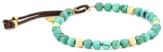 M.Cohen Hand made Designs Turquoise-Color Beads with Gold Stardust Detail Bracelet