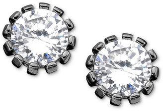 Betsey Johnson Bestey Johnson Earrings, Hematite Plated Crystal Stud
