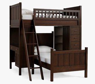 Pottery Barn Kids Camp Twin Loft System & Lower Bed Set