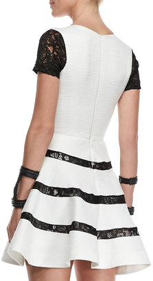 Alexis Magdalena Lace-Detail Short-Sleeve Dress