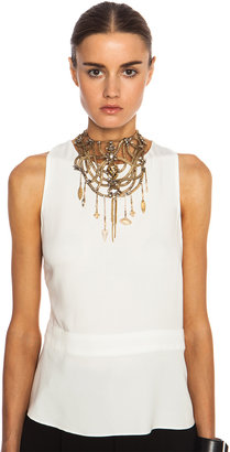 Erickson Beamon Mesh Embellished Necklace