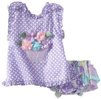 Mud Pie Baby Buds Pinafore And Bloomer Set