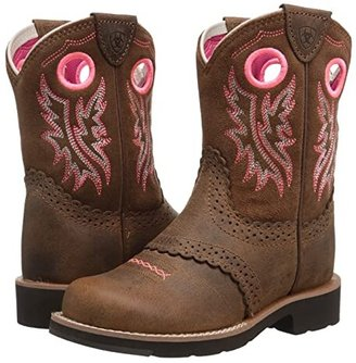 Ariat Fatbaby Cowgirl (Toddler/Little Kid/Big Kid) (Powder Brown/Western Brown) Girl's Shoes