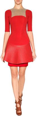 David Koma Dress in Red/Beige