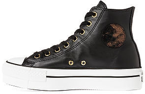 Converse The Chuck Taylor All Star Platform Zip in Black and Gold