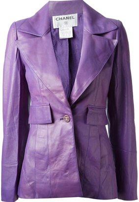Chanel leather blazer