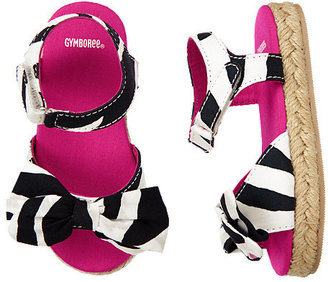 Gymboree Zebra Bow Espadrille Sandal