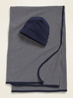 Old Navy Unisex Swaddle Blanket & Beanie Hat 2-Piece Set for Baby