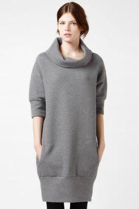Lacoste Elbow Sleeve Quilted Sweatshirt Dress