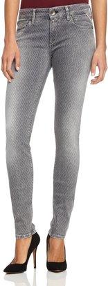 Replay Women's Skinny Fit Jeans - Grey Denim - 28/30 (Brand size: 28/30)