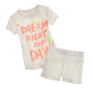 J.Crew Girls' short-sleeve sleep set in glowing stars