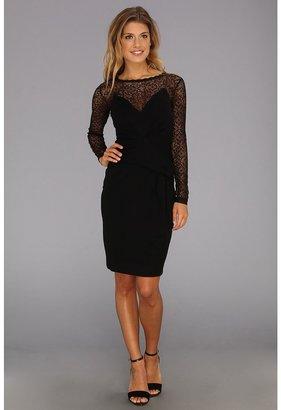 French Connection Vienna Lace Jersey 71ACX (Black) - Apparel