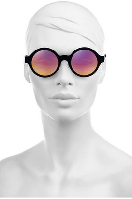 Illesteva Frieda round-frame mirrored acetate sunglasses