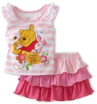 Disney Baby-Girls Infant Winne Stripe Top and Ruffle Skirt Set