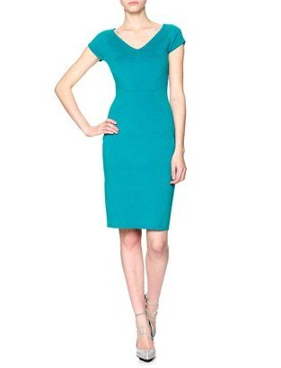 Narciso Rodriguez Turquoise Bodycon Dress