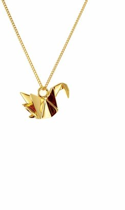 Origami Jewellery Mini Swan Necklace Gold