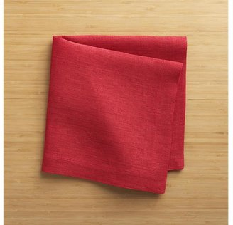 Crate & Barrel Kelsey Red Linen Napkin