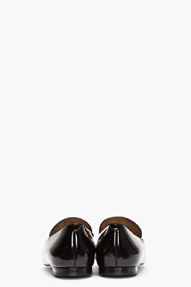 Chloé Black Patent Leather Metal-Tipped Tassel Loafers