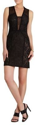 BCBGMAXAZRIA Lyla Contrast Lace Panel Dress