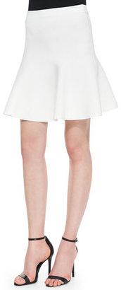 BCBGMAXAZRIA Ingrid A-Line Stretch-Knit Skirt, Gardenia $110 thestylecure.com