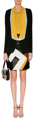 Fendi Black Colorblocked Blazer