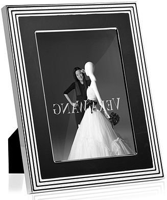 """Vera Wang Wedgwood Picture Frame, With Love Noir 8"""" x 10"""""""