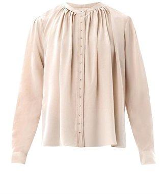 Vanessa Bruno Diamanté button silk blouse