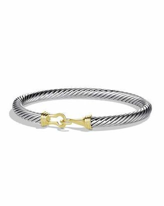 David Yurman Cable Buckle Bracelet with Gold $750 thestylecure.com