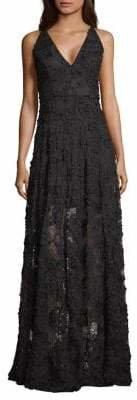 Xscape Evenings Illusion Floral Evening Gown