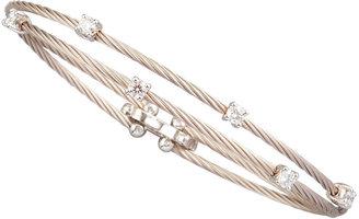 Paul Morelli 18k White Gold Six-Diamond Bracelet, 0.60 TCW