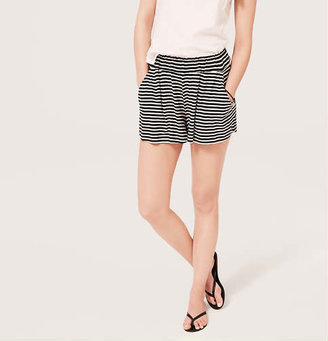 LOFT Beach Striped Elastic Waist Shorts