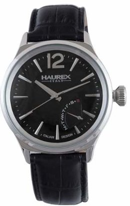 Haurex Italy Men's 6A341UN1 Grand Class Classic Black Leather Watch
