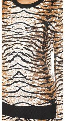 Torn By Ronny Kobo Shauna Tiger Jacquard Sweater