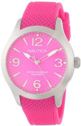 Nautica Midsize N11102M BFD 102 Mid Classic Analog with Enamel Bezel Watch $109 thestylecure.com