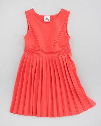 Milly Minis Courtney Pleated Knit Dress, Sizes 8-10