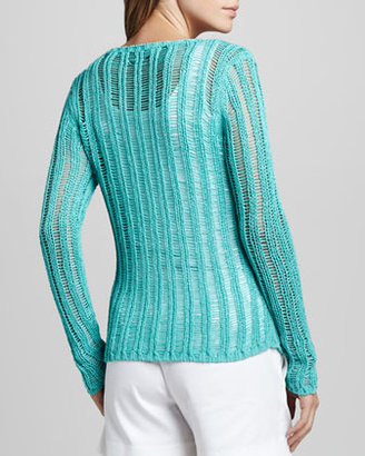 Milly Katelyn Ladder-Stitch Sweater