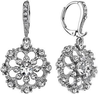 1928 Snowflake Drop Earrings