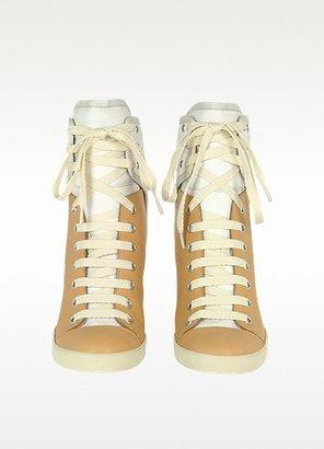 See by Chloe Two Tone Nabuk Sneaker Wedge