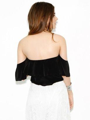 Boulee Emily Top in Black Silk