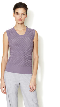Carolina Herrera Knit Textured Front Top