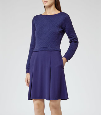 Reiss 1971 Kula QUILTED JERSEY DRESS