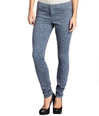 Rich and Skinny slate stretch denim giraffe print skinny jeans
