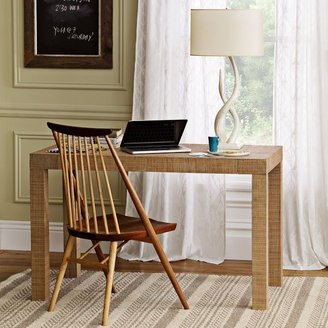 west elm Parsons Desk - Natural Grass Cloth