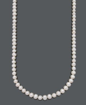 Belle de Mer Cultured Freshwater Pearl Strand Necklace (8-1/2-9-1/2mm) in 14k Gold