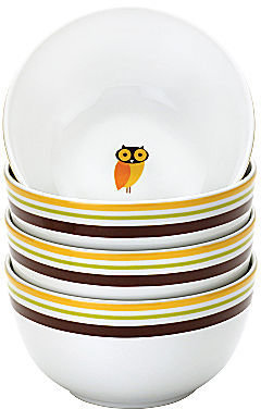 Rachael Ray Set of 4 Little Hoot Cereal Bowls