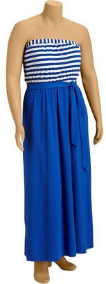 Old Navy Women's Plus Striped-Yoke Tube Maxi Dresses