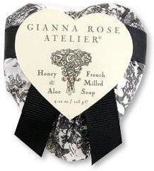 Gianna Rose Heart Soap in Black Toile