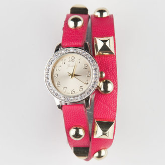 Pyramid Stud Wrap Watch