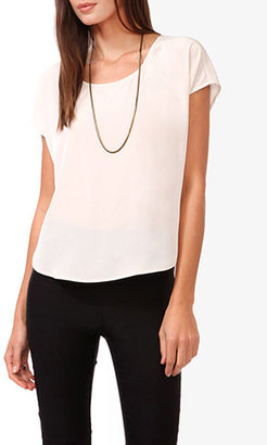 Forever 21 High-Low Scoop Top