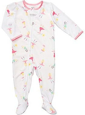 Carter's Fairy Print Footed Pajamas - Girls 2t-4t